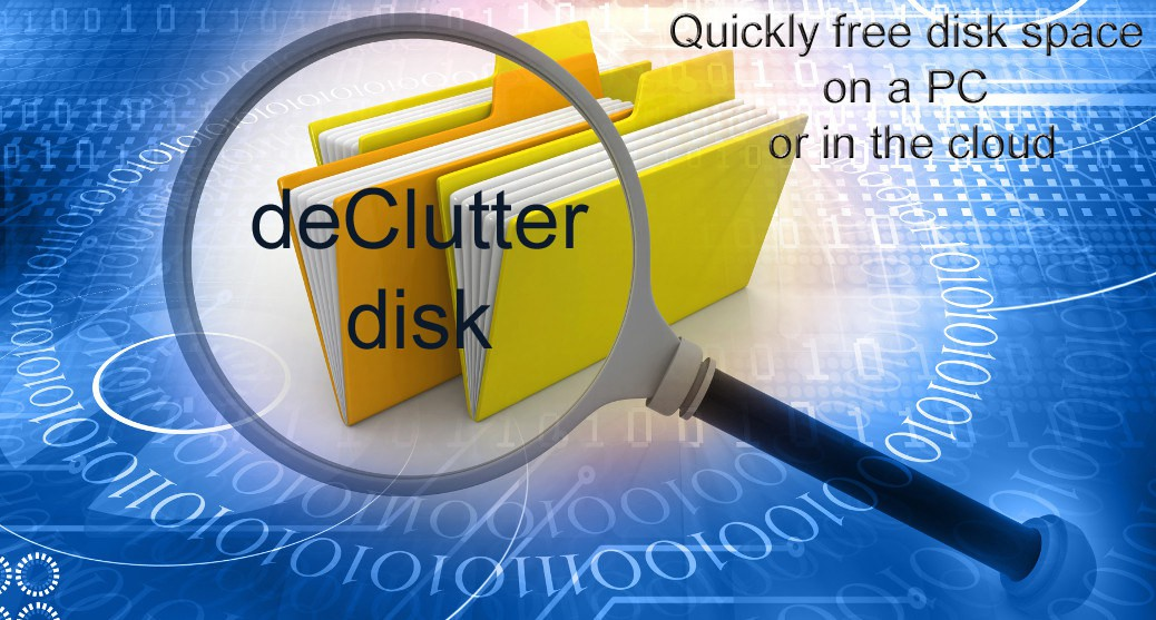 Quickly free disk space on a PC or cloud storage