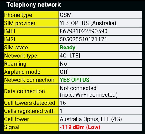phone network test